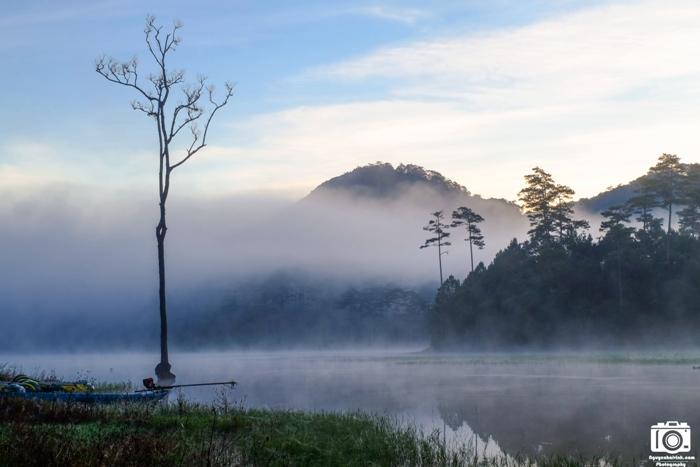 Sương sớm hồ Tuyền Lâm