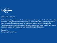 Thông báo về việc đóng cửa diễn đàn Thorn Tree từ Lonely Planet