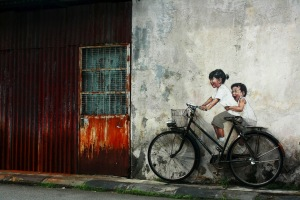 Street-Art-Ernest-Zacharevic-o-Penang-Malaysia