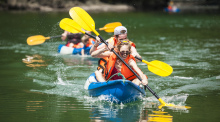 cheo thuyen kayak vinh ha long