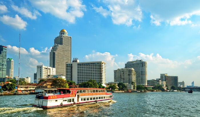 Du thuyền trên sông Chaophraya