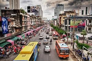 Đường phố ở thủ đô Bangkok