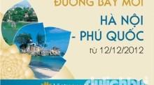 Vé máy bay Hà Nội - Phú Quốc chỉ 120.000 đồng/ chiều