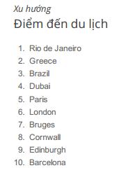 Top 10 điểm du lịch được tìm kiếm nhiều nhất tại Anh