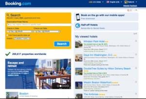 Booking.com hiện tại