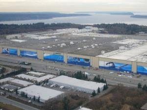 Nhà máy sản xuất Boeing nhìn từ trên cao