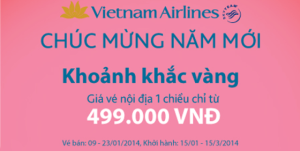vietnam airlines mo ban ve may bay tet 2014 gia re