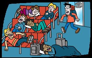 Ngủ đêm tại sân bay