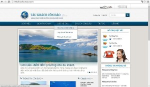 Truy cập Website và chọn hành trình