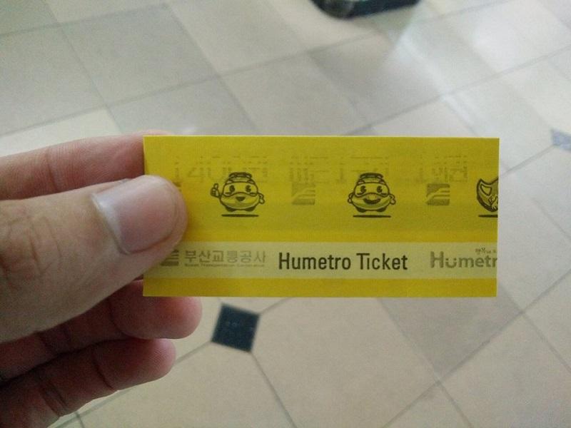 Vé tàu điện (giấy) Hàn Quốc