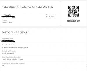 Voucher xác nhận thuê wifi từ Trippy.vn