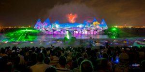 Hình ảnh trong chương trình biểu diễn nhạc nước Singapore Wings Of Time