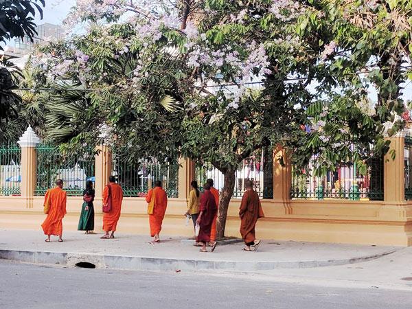 Các nhà sư ở Phnom Penh