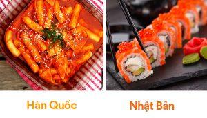 Ẩm thực Hàn Quốc và Nhật Bản