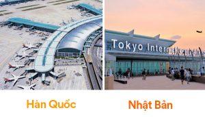 Phương tiện đi Hàn Quốc và Nhật Bản