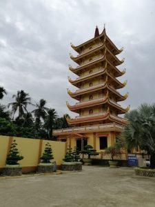 Kiến trúc kiểu cổ lầu ở chùa Vĩnh Tràng