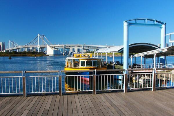 Odaiba Seaside Park ở nhân tạo Odaiba, Tokyo, Nhật Bản