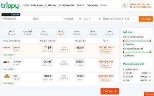 Kết quả tìm kiếm vé máy bay tại trippy.vn