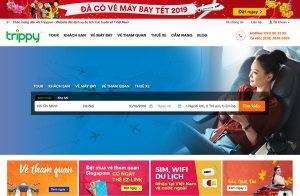 Khung search tìm kiếm chuyến bay tại Trippy.vn