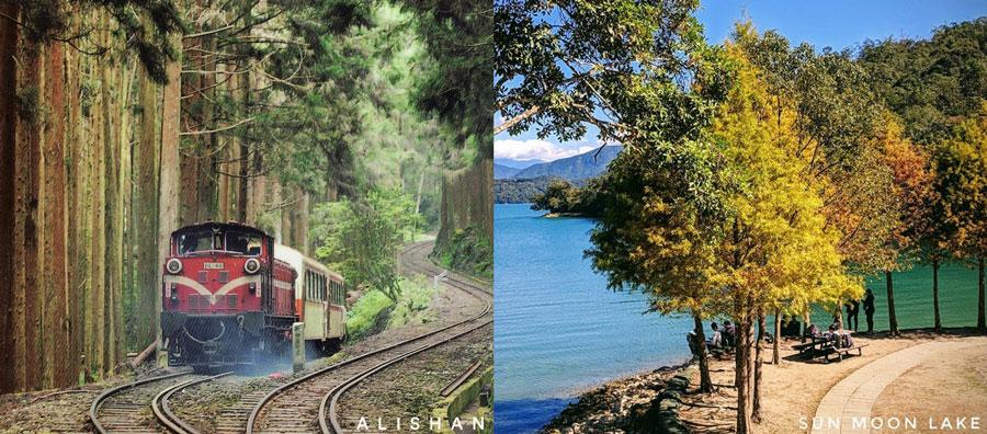 Alishan và Hồ Nhật Nguyệt, 2 danh thắng tuyệt đẹp ở Đài Loan