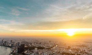 Từ đài quan sát Landmark 81 Skyview có thể nhìn được toàn cảnh thành phố