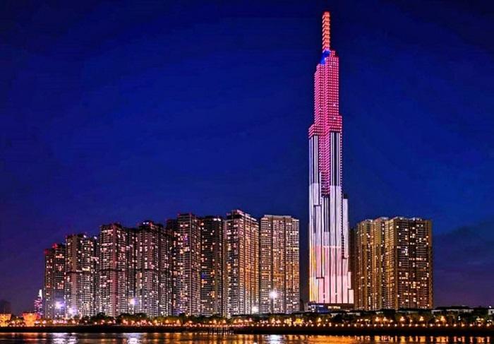 Tòa nhà Landmark 81 nổi bật về đêm