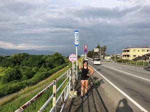 Chạy bộ ở Hakone buổi sáng